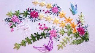 ВЫШИВКА ДЛЯ НАЧИНАЮЩИХ / EMBROIDERY : Lazy daisy stitch