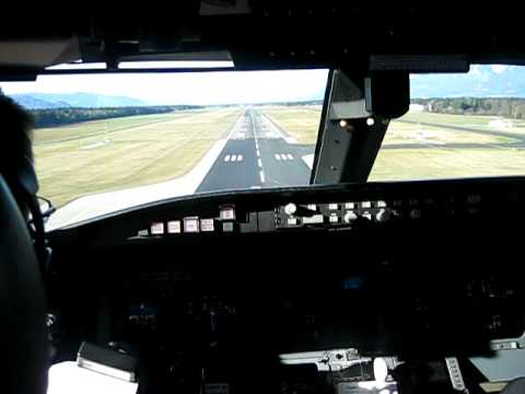 Adria Airways CRJ900 landing in Ljubljana