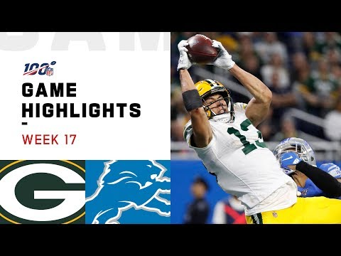 Packers Vs. Lions Week 17 Highlights | NFL 2019