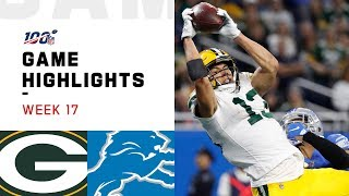 Packers vs. Lions Week 17 Highlights