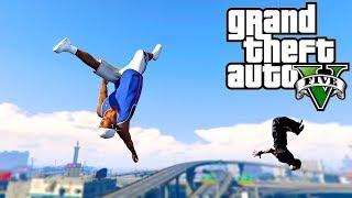 Grand Theft Auto V: GTA 5 - Parkour Fails # 15 (Best Parkour Wins and Fails, Highest Jumps, Drake)