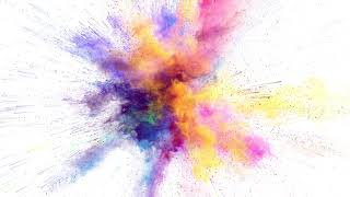 4K Color Explosion on WHITE Background