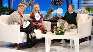 Download Reese Witherspoon and P!nk Play 'Never Have I Ever' with Ellen Mp3 and Videos