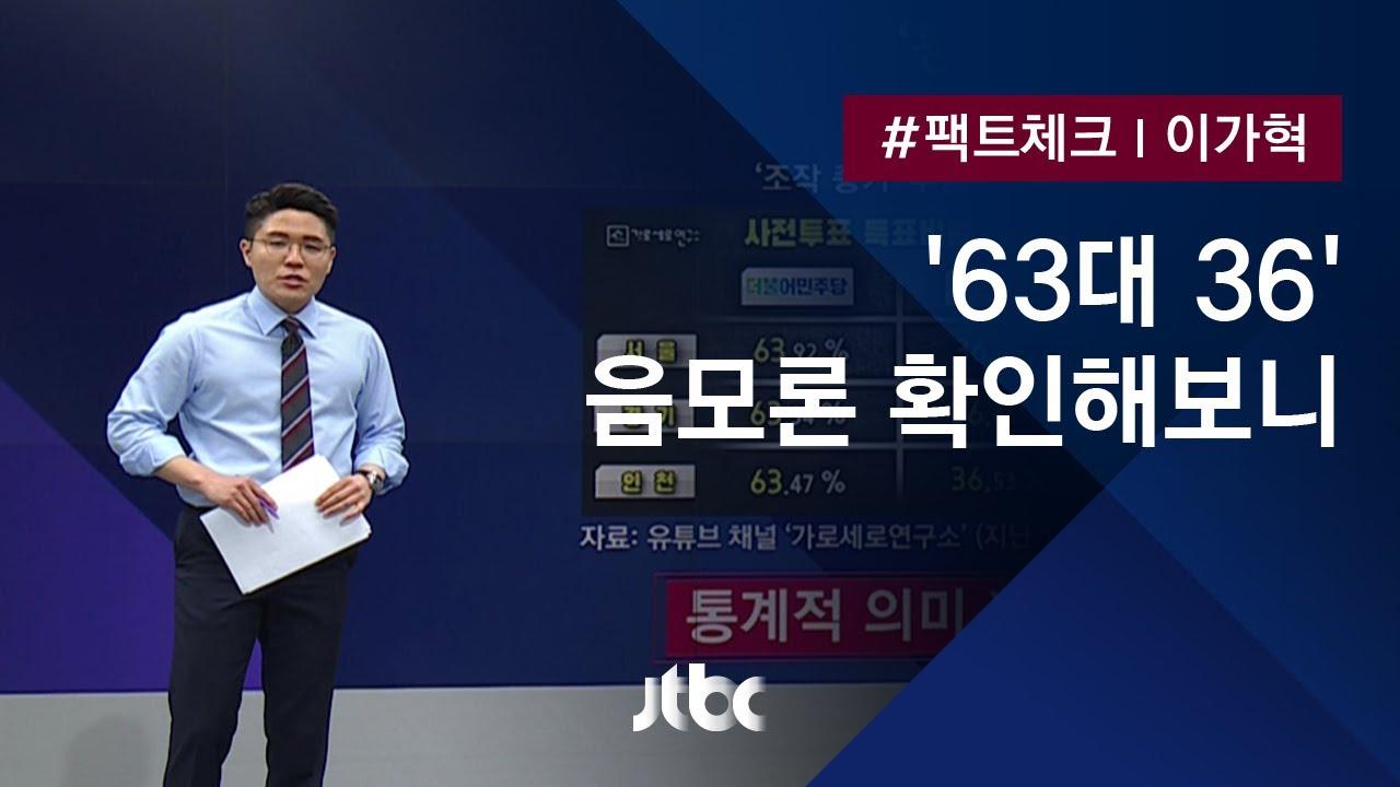 팩트체크 '63 대 36' 사전투표 조작 증거? 살펴보니 / JTBC 뉴스룸 ...