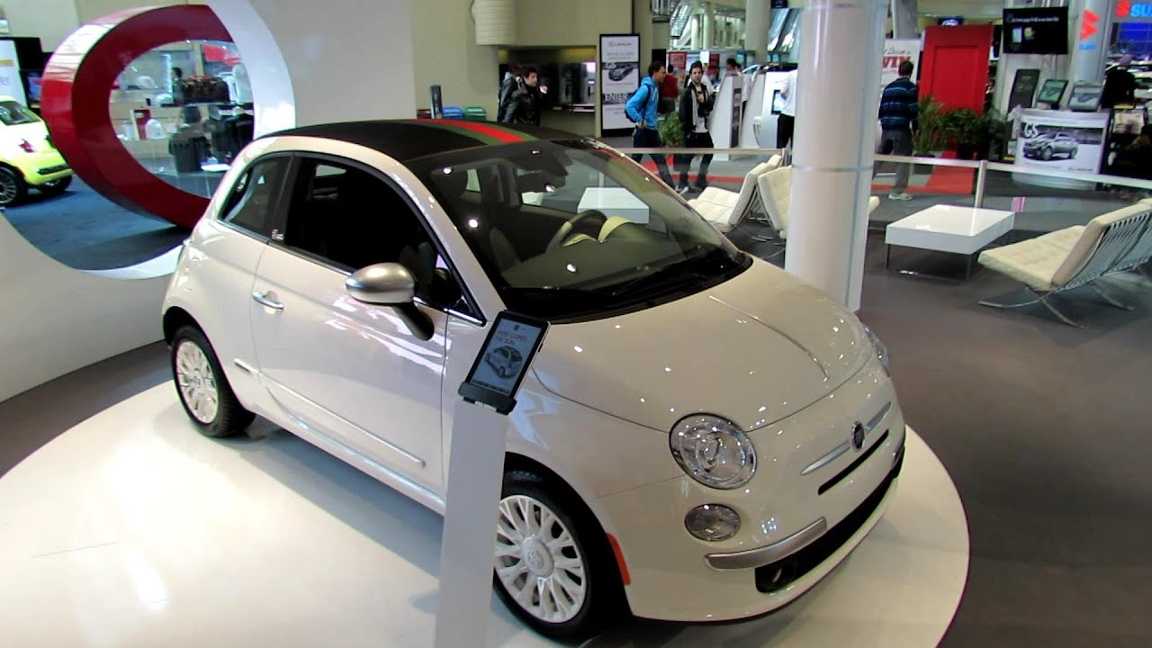 2012 fiat 500c by gucci exterior and interior at 2012 toronto auto show youtube. Black Bedroom Furniture Sets. Home Design Ideas