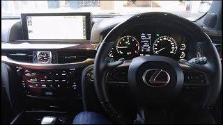 """レクサス 新型 LX570 """"Black Sequence""""  試乗&車両紹介!インテリア(内装編)を撮影してきた!レクサス lexus"""