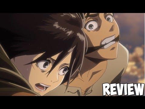CHAOS! Attack On Titan Season 2 Episode 11 (36) Review: Eren's Rescue & Titan Battle!! 進撃の巨人 36 ...