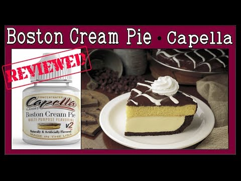 Boston Cream Pie Capella - Review + 2 Recipes [ CAP Boston Cream PIE V1 & V2 Review DIY eliquid]