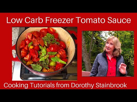 Low Carb & Keto Freezer Tomato Sauce with Fresh Tomatoes