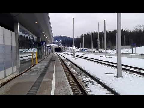 Bahnhof Hengsberg Koralmbahn ÖBB von Graz nach Wies Eibiswald über Deutschlandsberg GKB Februar 2018