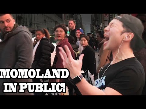 "MOMOLAND - ""BBoom BBoom"" - DANCING KPOP IN PUBLIC!!!"