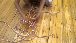 Видео уроки поинга: Плетение изиса из 3 и 4 веревок - isis