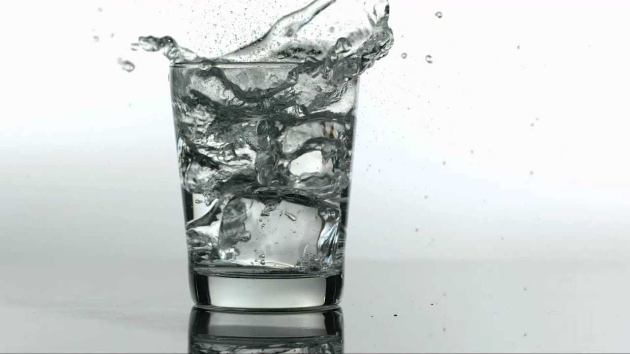 Wallpaper Falling Water Slow Motion Ice Dropping Into Water Glass Youtube