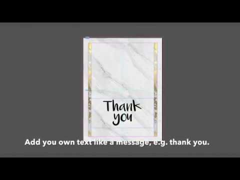 How to make your own greeting card Thank you card in InDesignHow