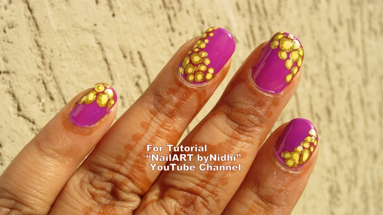 Diy Pretty Nail Art Creation For Beginners Dotted Dots Nail Art