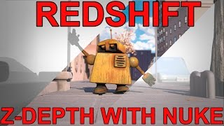 Redshift Exporting Z Depth to Nuke Tutorial
