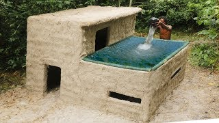 Building Most Beautiful Swimming Pool On The  Villa House By Bamboo thumbnail