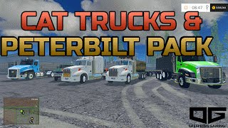 Farming Simulator 2015 Mods- Peterbilt 386 Pack, CAT Dump, and More!