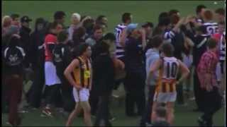 Barry Hall Misses Goal After Siren!