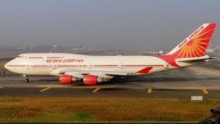 """Queen of Skies"" Air India Jumbo Jet Boeing 747 Departure from Mumbai to Delhi"