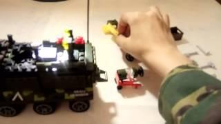 видео обзор военной машины БТР из конструктора лего