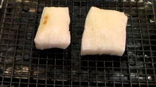 Baked Rice Cake. 餅焼き