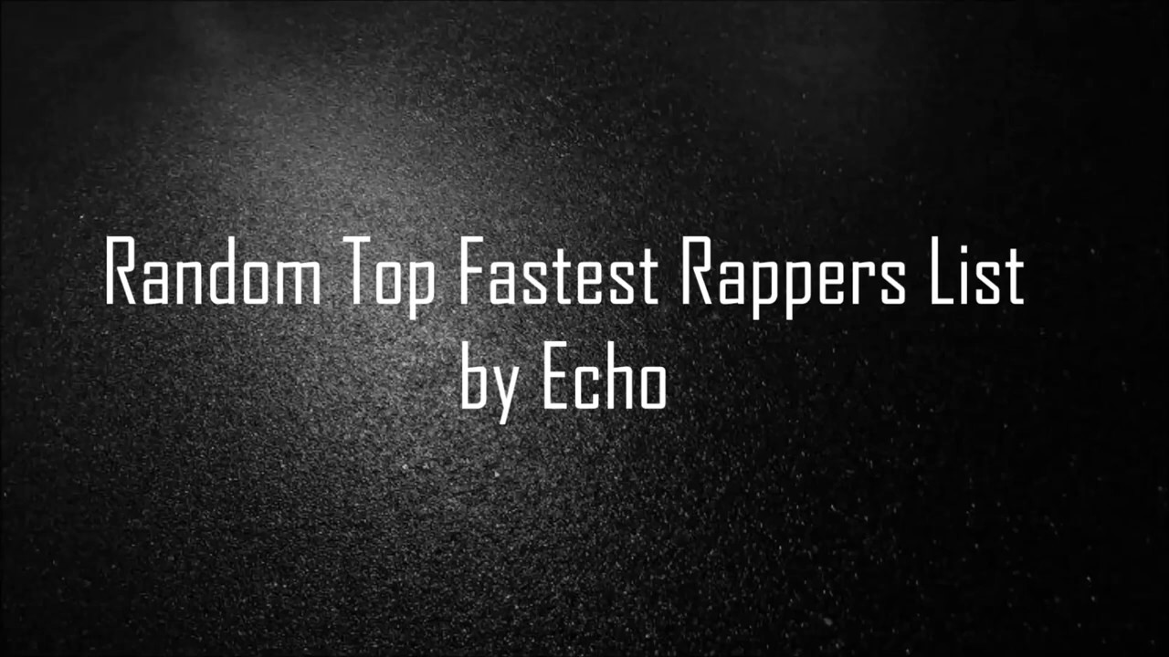 5 Fast Mainstream Rappers