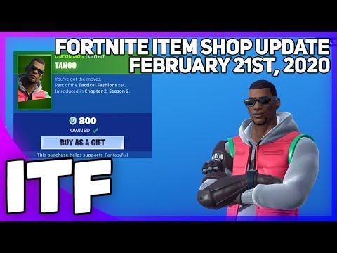 Fortnite Item Shop *NEW* TANGO SKIN + NEW EMOTE! [February 21st, 2020] (Fortnite Battle Royale)