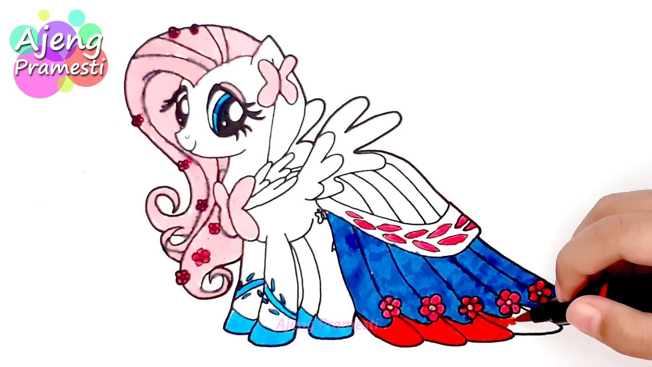 Belajar Mewarnai Gambar Fluttershy My Little Pony Youtube