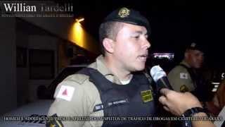 Comando 190 Araxá - Soldado Nogueira, prisão homem suspeito de tráfico em cemitério de Araxá.