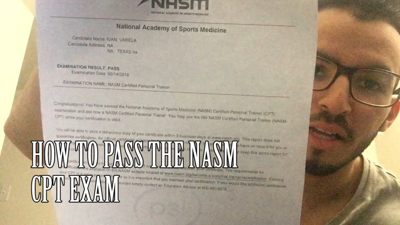 How To Pass The Nasm Exam 6th Edition Youtube