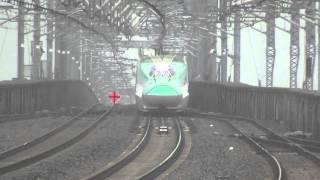 【320km/hか!?】 東北新幹線E5系はやぶさ5号 那須塩原を超高速通過!!!