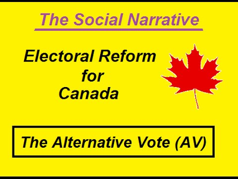 Electoral Reform Canada - The Alternative Vote