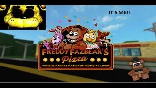 Freddy Fazbears Pizza-Golden Freddy!?!? -(Roblox Rollenspiel) EP 2