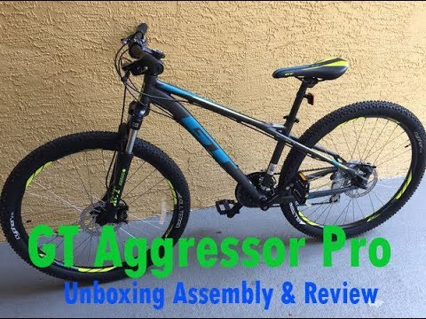 Gt Aggressor Pro 27 5 Mountain Bike Unboxing Assembly Review Dicks