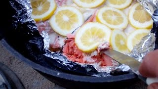 Baked Salmon Steak Fillets