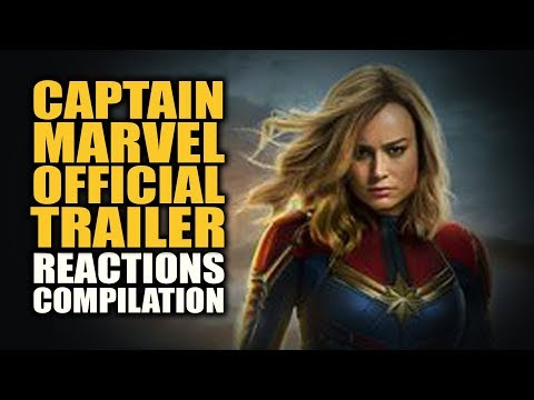 CAPTAIN MARVEL OFFICIAL TRAILER Reactions Compilation