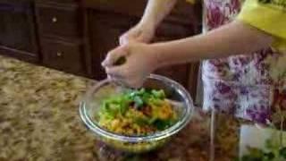 Sisters Cooking: Kimmi Making Bean Dip