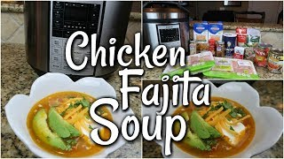 CHICKEN FAJITA SOUP - PRESSURE COOKER INSTANT POT COSORI RECIPE - LOW CARB