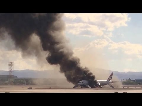 Passengers share drama of plane fire scare in Las Vegas