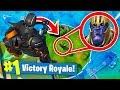 TROLLING THANOS In Fortnite Battle Royale   Infinity Gauntlet