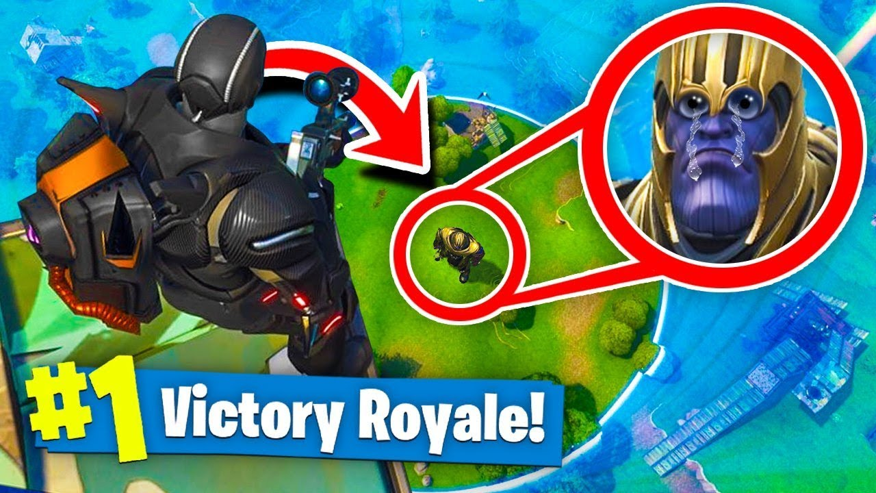 Trolling Thanos In Fortnite Battle Royale Infinity Gauntlet