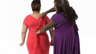 Monif C. Plus Sizes Marilyn Convertible Dress Instructional Video #8