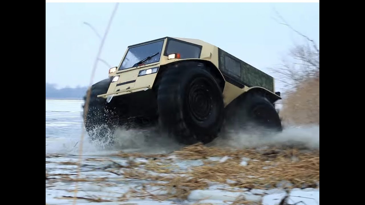 extreme off road russian amphibious sherp vehicle youtube. Black Bedroom Furniture Sets. Home Design Ideas