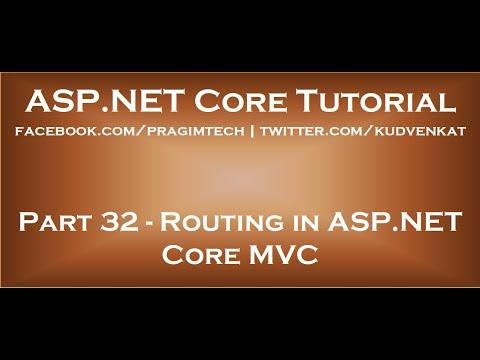 Routing in ASP NET Core MVC