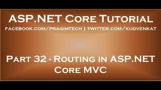 Routing in ASP NET Core MVC