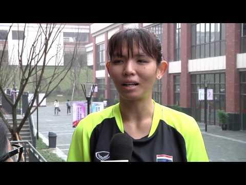 12 03 2017 AVC U 18 Chongqing สัมภาษณ์อุสา เกมเจอญี่ปุ่น