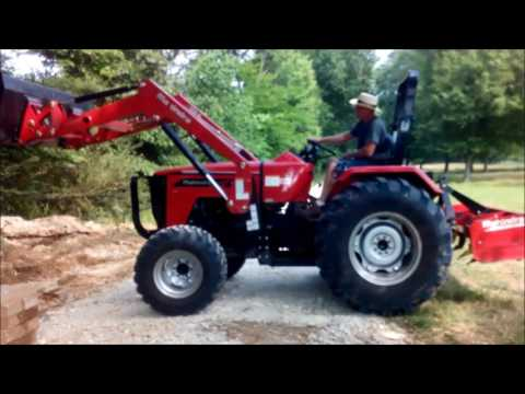 Mahindra 4550 and concrete removal
