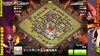 Clash of Clans - acervo de PTs - TH9 X TH8,5