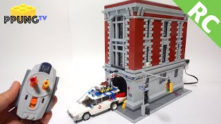 LEGO Ghostbusters 75827 RC Motorized (automatic door) Firehouse Headquarters by 뿡대디